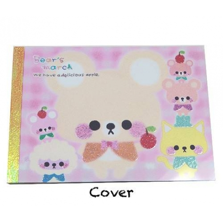 Japanese Memo Pad 4 Patterns 120 sheets Cute Animal