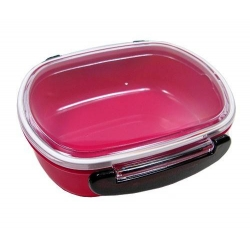 Japanese Microwavable 1 Tier Bento Box Lunch Box Oval Pink