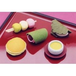 Cute Japanese Eraser Set Collectible Japanese Dessert 6 pcs