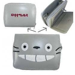 My Neighbor Tonari no Totoro Wallet with Zipper Grey