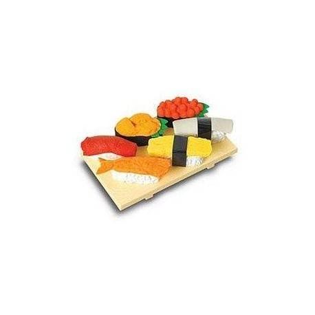 Cute Japanese Eraser Set Collectible Sushi 7 pcs
