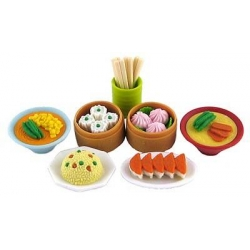 Cute Japanese Eraser Set Collectible Chinese Food 7 pcs