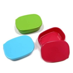 Microwavable Japanese Mini Food Container Great for Dressing with Lid 3 Colors
