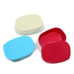 Microwavable Japanese Mini Food Sauce Container with Lid 3 Colors