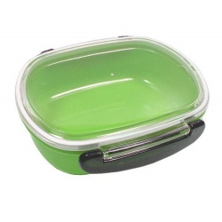Japanese Microwavable 1 Tier Bento Box Lunch Box Oval Green