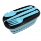 Japanese Bento Accessories Fork Spoon Chopsticks Case 4 in 1 Blue