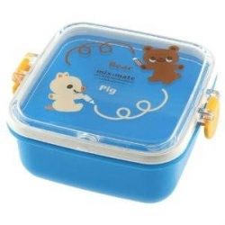 Microwavable Bear and Piggy Bento Snack Container