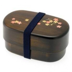 Japanese Microwavable Bento Box Gorgeous Woodgrain Sakura