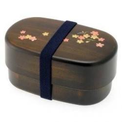 Japanese Microwavable Bento Box Gorgeous Woodgrain Sakura