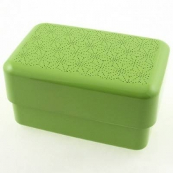 Japanese Bento Box Lunch Box Set Lime Green with Strap
