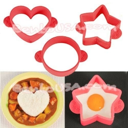Japanese Bento Silicone Cooking Mold Deluxe set 3 Designs