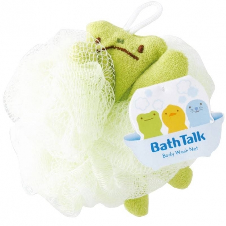 Cute Animal Body Net Bath Sponge - Frog