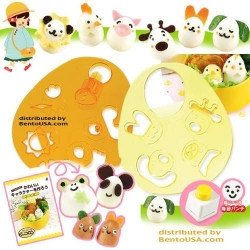Decorative Bento Cutter Animal Set with Nori Puncher