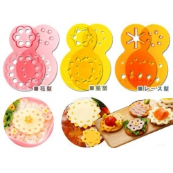 Decorative Bento Ham Cheese Cutter 12 designs Lace