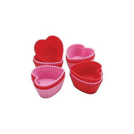 Bento Silicone Baking Food Cup - 12 Heart
