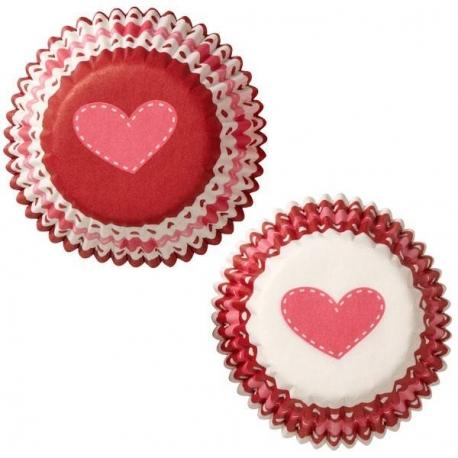 Bento Mini Heart Food and Baking Cups 100 Pcs