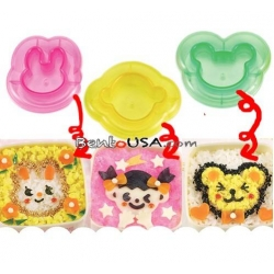 Decorative Bento Sandwich Cutter and Mold 3 Animal