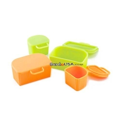 Microwavable Silicone Food Cup with Lid for dipping dressing sauce