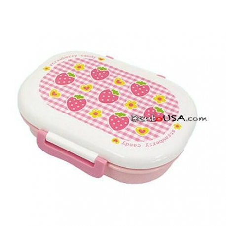 Microwavable Japanese Kids Bento Lunch Box Fruit Pink Strawberry