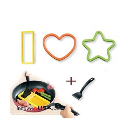 Japanese Bento Silicone Cooking Mold Deluxe set with Turner