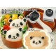 Panda Bento Rice Mold and Seaweed Nori Puncher Set