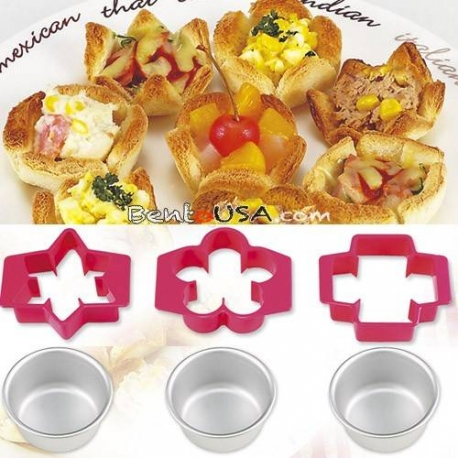 Bento Sandwich Cutter and Bread Cup Mold