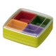 Square Bento Lunch Box Food Storage Removable 4 Compartments