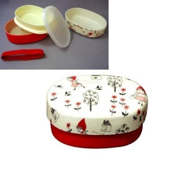 Japanese 2-tier Bento Lunch Box Red Riding Hood