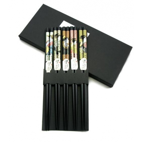 Japanese Bento Accessory Chopsticks 5 Pairs kafuh Set