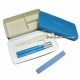 Japanese Bento Box 3 tier Lunch Box with Strap and Chop blue