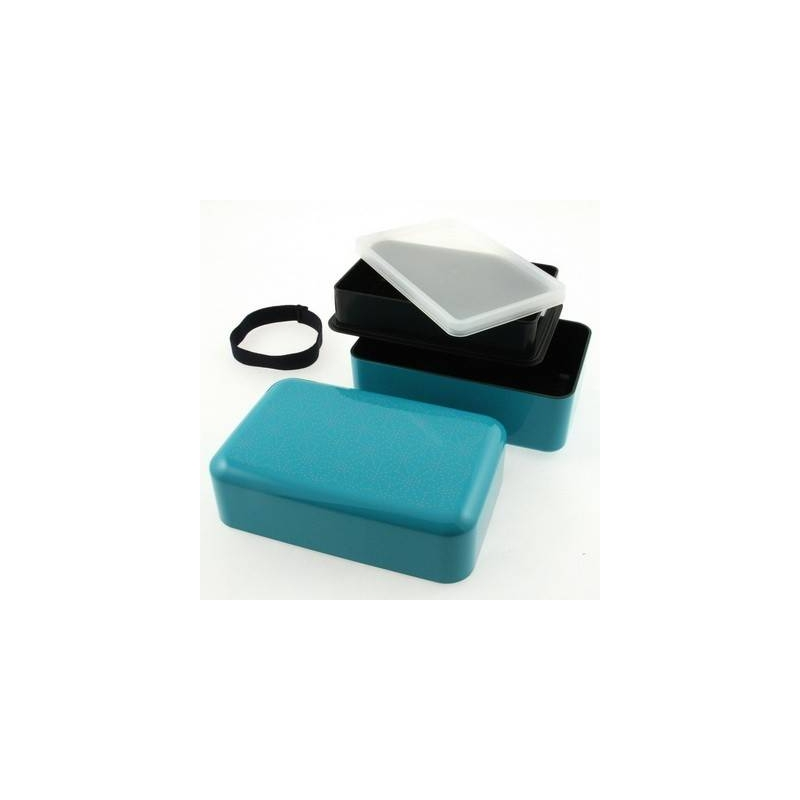 japanese bento box lunch box set lime blue with strap for bento bo. Black Bedroom Furniture Sets. Home Design Ideas