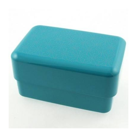 Japanese Bento Box Lunch Box Set Lime Blue with Strap