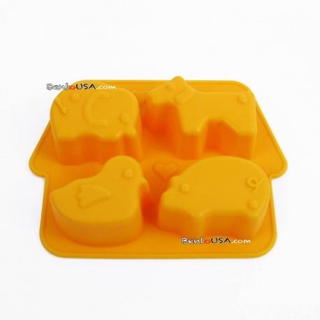 Bento Silicon Mold 4 Fun Animal Shapes