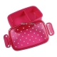 Japanese Microwavable 1 Tier Bento Box Lunch Box Polka Dot Pink