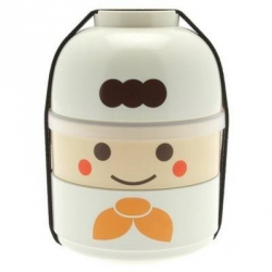 Japanese Bento Box 2 tier Lunch Box Kokeshi Set Chef