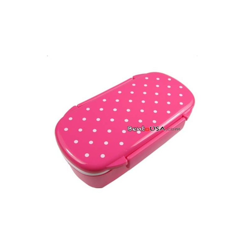 japanese microwavable bento lunch box polka dot with sections for. Black Bedroom Furniture Sets. Home Design Ideas