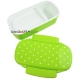 Japanese Microwavable Bento Lunch Box Polka Dot with Sections