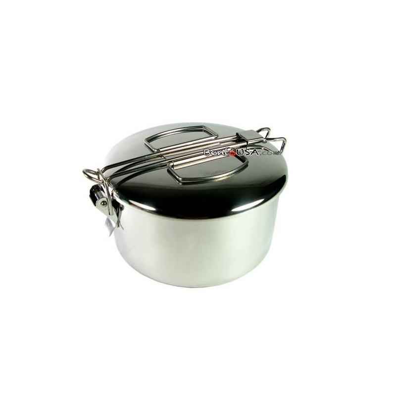 finest stainless steel 2 tier bento lunch box for out of stock. Black Bedroom Furniture Sets. Home Design Ideas