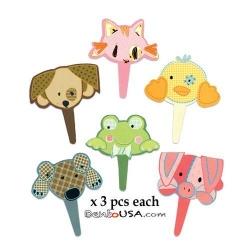 Food Decorating Pick Flexi Animal 18 pcs