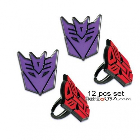 Food Decorating Party Ring Transformers 12 pcs