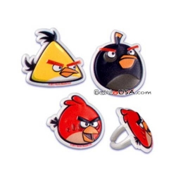 Food Decorating Party Ring Topper Angry Birds