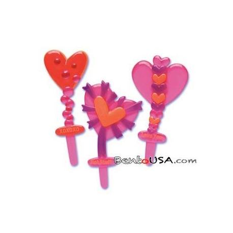 Food Decorating Pick Puffy Pick Heart Valentines Message