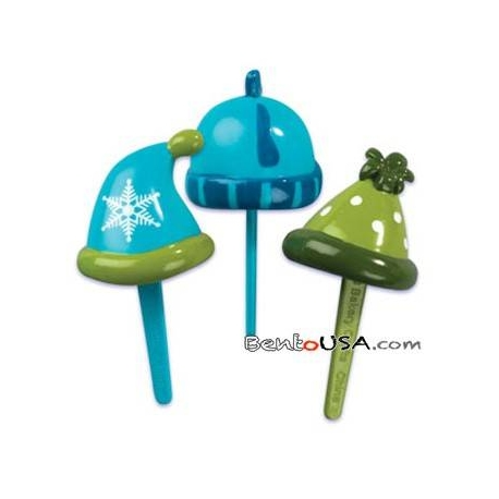 Food Decorating Pick Puffy Pick 3D Winter Hat