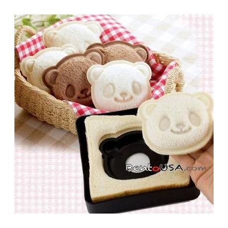japanese bento lunch pocket sandwich cutter mold stamp panda for d. Black Bedroom Furniture Sets. Home Design Ideas