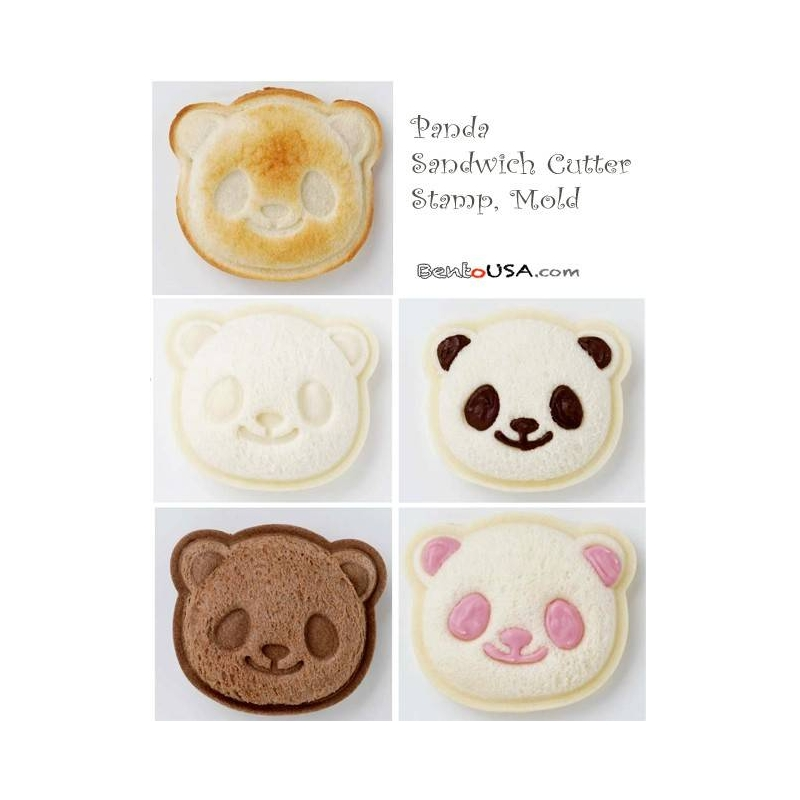 japanese bento lunch pocket sandwich cutter mold stamp panda for d. Black Bedroom Furniture Sets. Home Design Ideas