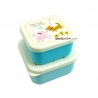 Microwavable Japanese Bento Box Lunch Box set of 2 Mini Dog