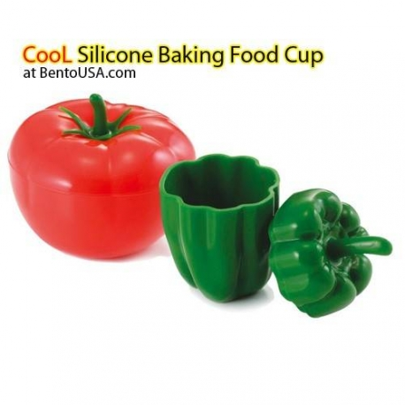 Microwavable Silicone Baking Food Cup with Lid for dressing