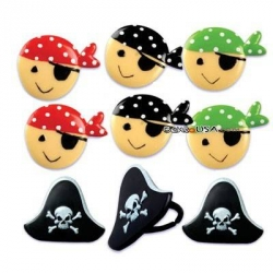 Food Decorating Party Ring Topper Cute Pirate Theme