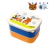 Microwavable Japanese Mini 2-tier Bento Snack Box Boy