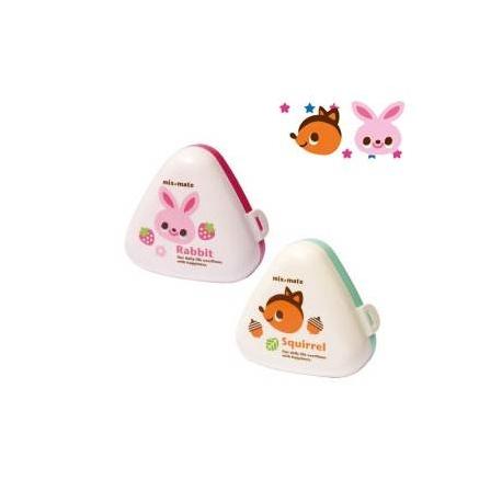 Japanese Triangle Rice Ball Bento Box Onigiri Case Girl